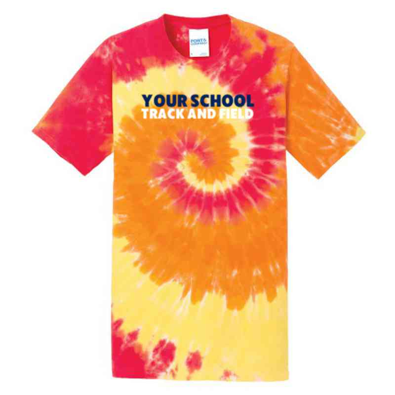 Track and Field Youth Tie Dye T-Shirt