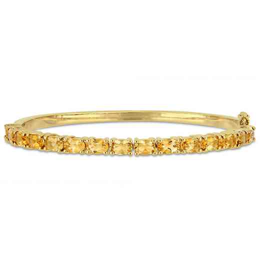 BAL000583: 6-3/4 CT TGW Oval-Cut Citre Bangle  Yellow Plated SS