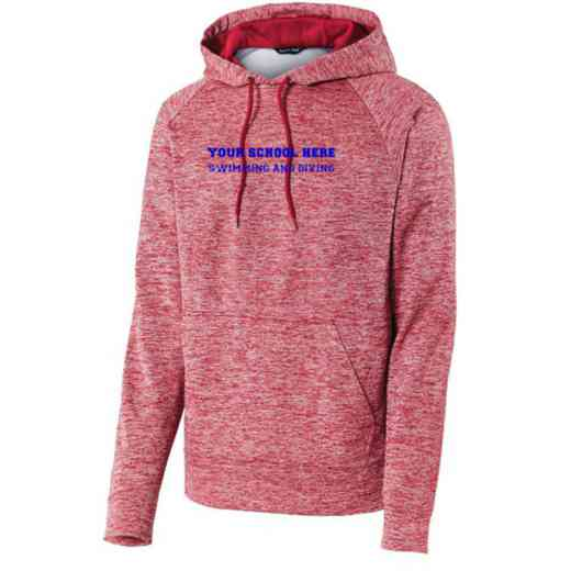 Swimming and Diving Sport-Tek Electric Heather Hooded Sweatshirt