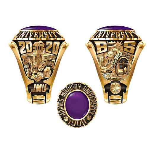 James Madison University Class Of 2020 Men's Traditional 876PL Traditional with Oval Stone