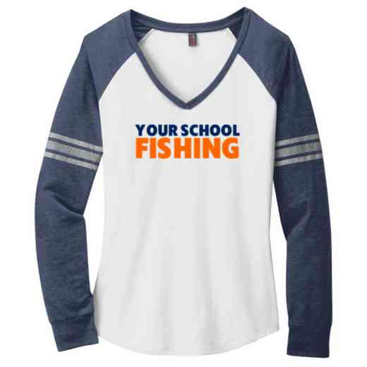 Fishing Ladies Game Long Sleeve V-Neck Tee