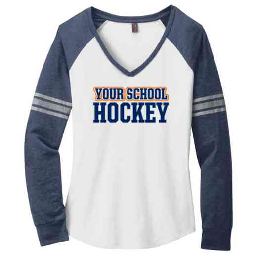 Hockey Ladies Game Long Sleeve V-Neck Tee