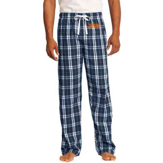 Class of  Embroidered Young Men's Flannel Plaid Pant