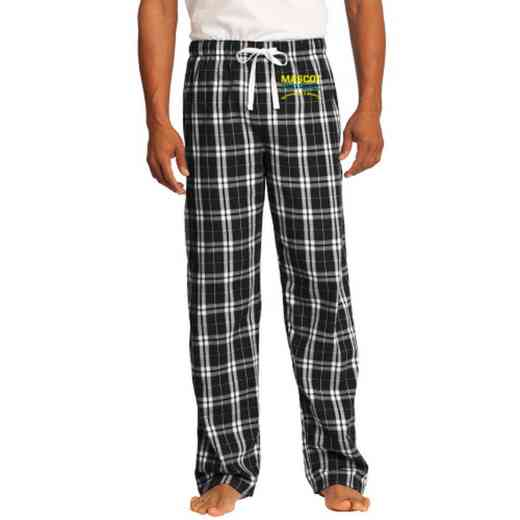 Football Embroidered Young Men's Flannel Plaid Pant