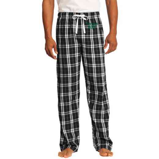 Golf Embroidered Young Men's Flannel Plaid Pant