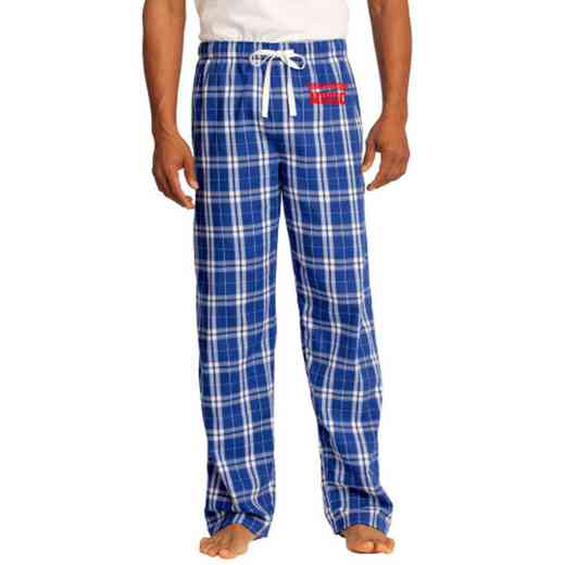 Music Embroidered Young Men's Flannel Plaid Pant