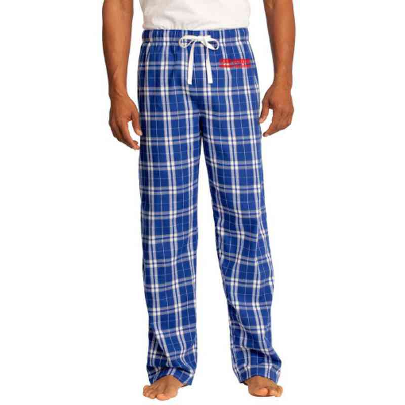 Swimming & Diving Embroidered Young Men's Flannel Plaid Pant