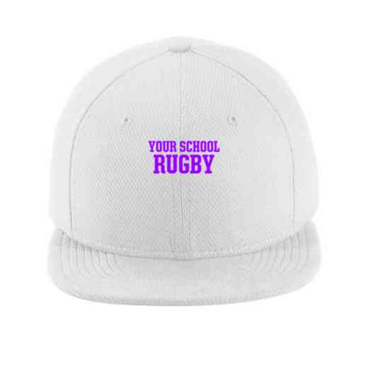 Rugby New Era Flat Bill Snapback Cap