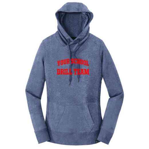 Drill Team New Era Ladies French Terry Hooded Sweatshirt