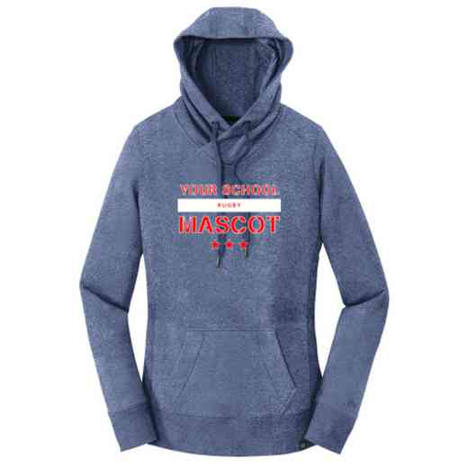 Rugby New Era Ladies French Terry Hooded Sweatshirt