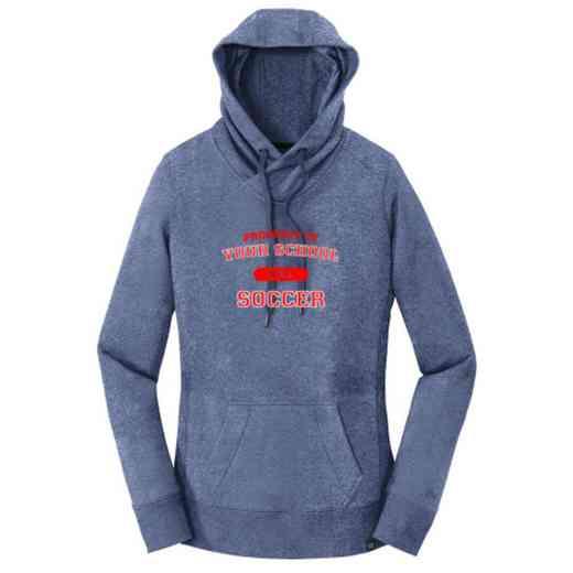 Soccer New Era Ladies French Terry Hooded Sweatshirt