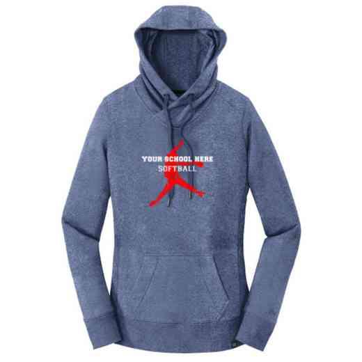 Softball New Era Ladies French Terry Hooded Sweatshirt