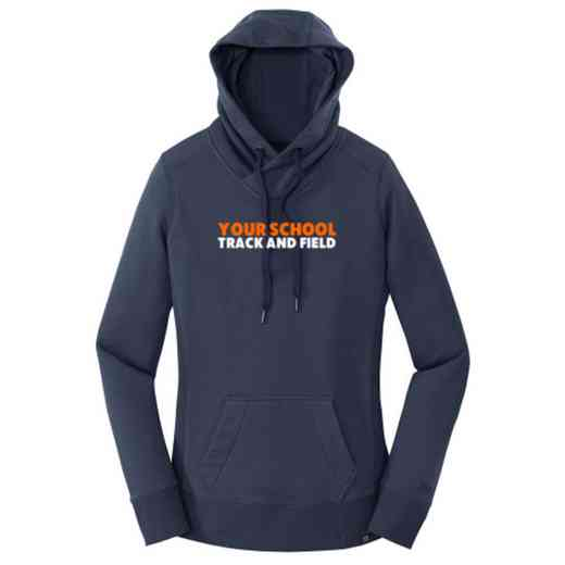 Track and Field New Era Ladies French Terry Hooded Sweatshirt