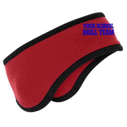Drill Team Two-Color Fleece Headband