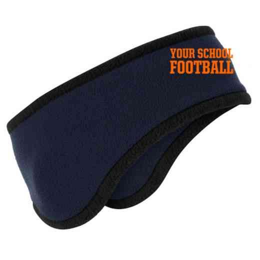 Football Two-Color Fleece Headband