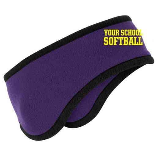 Softball Two-Color Fleece Headband