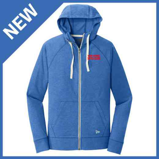 Beta Club New Era Embroidered Sueded Cotton Zip Sweatshirt