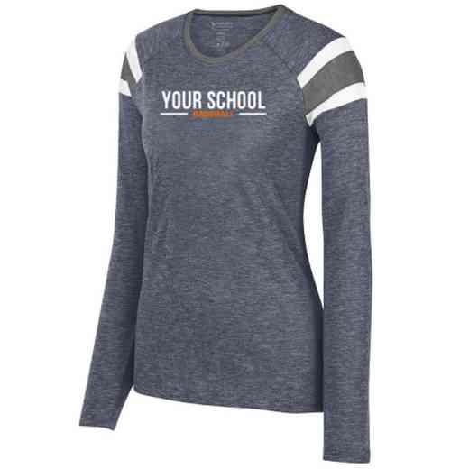 Baseball Ladies Long Sleeve Fanatic T-Shirt