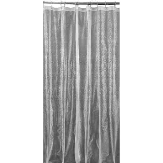 5407-CLEAR: KEN 3D EVA Shower Curtain  Peacock Design 70X72 CLEA
