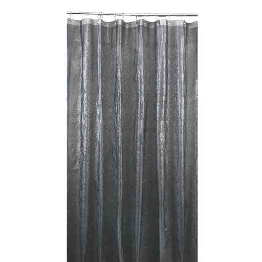 5407-GREY: KEN 3D EVA Shower Curtain  Peacock Design 70X72 GRY
