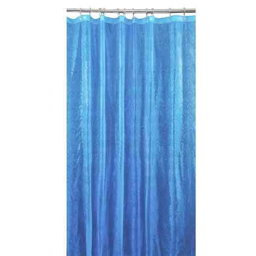 5407-LBLUE: KEN 3D EVA Shower Curtain  Peacock Design 70X72 LBLU