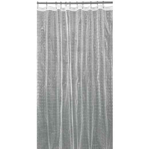 5408-CLEAR : KEN 3D EVA Shower Curtain  Octagon Design 70X72 CLEAR