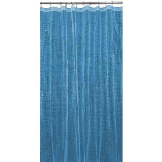 5408-LBLUE: KEN 3D EVA Shower Curtain  Octagon Design 70X72 LBLU