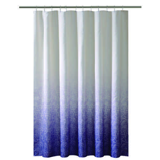 5406-PURPLE: KEN Shower Curtain -Ombre  Printed Polyester 70x72 - PUR