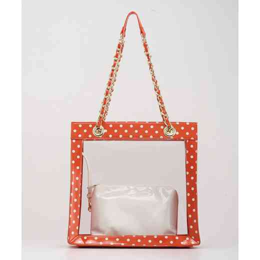 H150330-17-OR-W: Andrea Clear Tailgate Tote OR-W