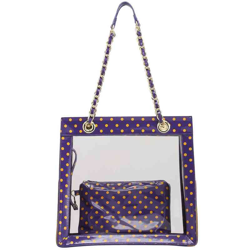 H150330-17-RP-YGO: Andrea Clear Tailgate Tote -RP-YGO