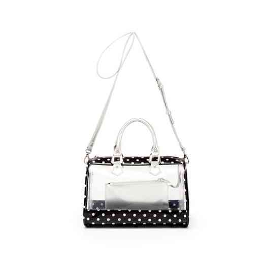 H160426-11-BLK-S: Moniqua Clear Satchel BLK-S