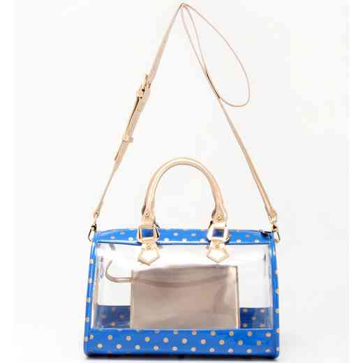 H160426-11-IMPBLU-GO: Moniqua Clear Satchel IMPBLU-GO