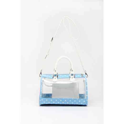 H160426-11-LTBLU-W: Moniqua Clear Satchel LTBLU-W