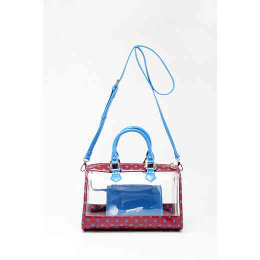 H160426-11-M-FRBLU: Moniqua Clear Satchel M-FRBLU