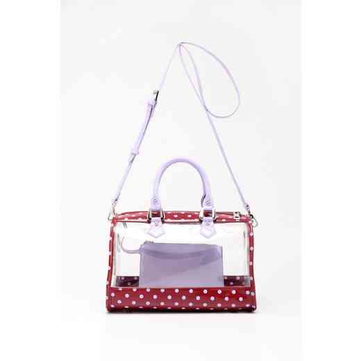 H160426-11-M-LVN: Moniqua Clear Satchel M-LVN