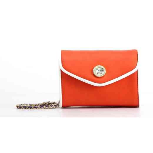 H150330-11-OR-W-RP: Eva Clutch Handbag  OR/W/RP