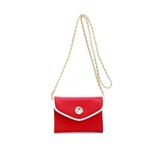 H150330-11-RR-W-GO: Eva Clutch Handbag  RR/W/GO