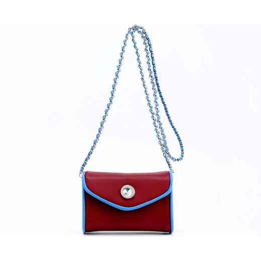 H150330-11-M-FRBLU: Eva Clutch Handbag  M/FRBLU