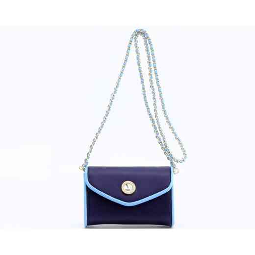 H150330-11-NBLU-LTBLU: Eva Clutch Handbag  NBLU/LTBLU