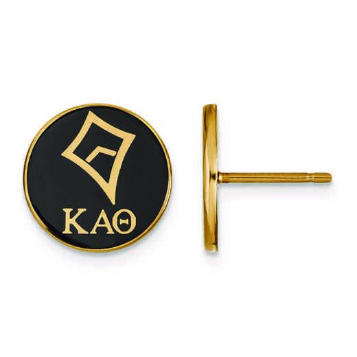 GP046KAT: Strlng Slvr w/GP LogoArt Kappa Alpha Theta Enamld Pst Erring