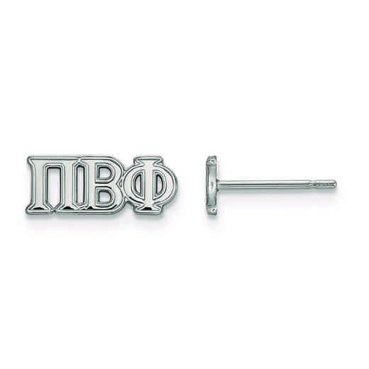 SS005PBP: Strlng Slvr LogoArt Pi Beta Phi XS Post Earrings