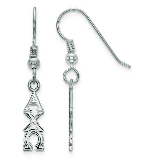 SS026ACO: Strlng Slvr LogoArt Alpha Chi Omega Small Dangle Earrings