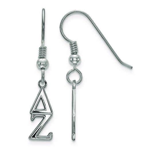 SS026DZ: Strlng Slvr LogoArt Delta Zeta XS Dangle Earrings