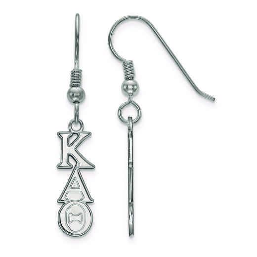 SS026KAT: Strlng Slvr LogoArt Kappa Alpha Theta XS Dangle Earrings