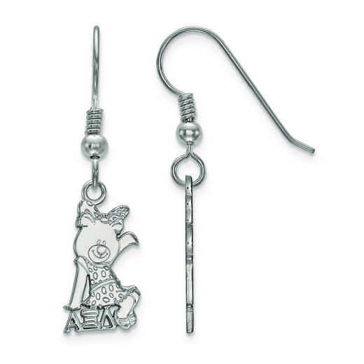 SS037AXD: Strlng Slvr LogoArt Alpha Xi Delta Small Dangle Earrings