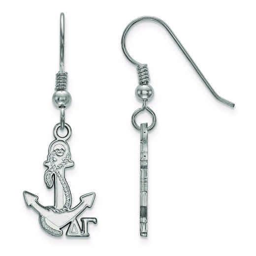 SS037DG: Strlng Slvr LogoArt Delta Gamma Small Dangle Earrings