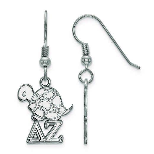 SS037DZ: Strlng Slvr LogoArt Delta Zeta Small Dangle Earrings