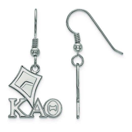 SS037KAT: Strlng Slvr LogoArt Kappa Alpha Theta Small Dangle Earrings