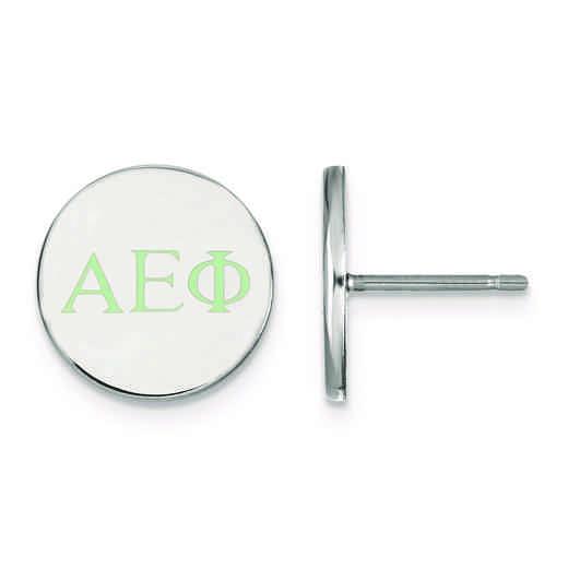 SS032AEP: Strlng Slvr LogoArt Alpha Epsilon Phi Enameled Post Earrings