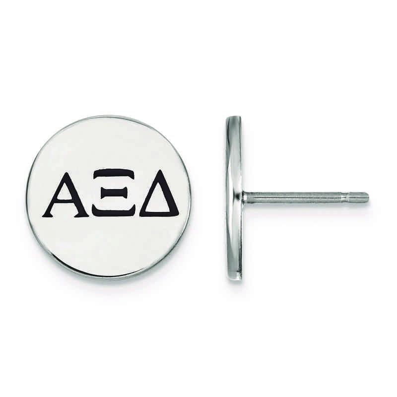 Sterling Silver Alpha Xi Delta Enameled Post Earrings
